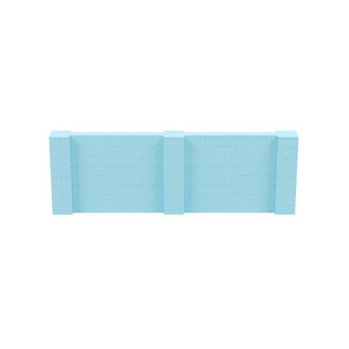 12' x 4' Light Blue Simple Block Wall Kit