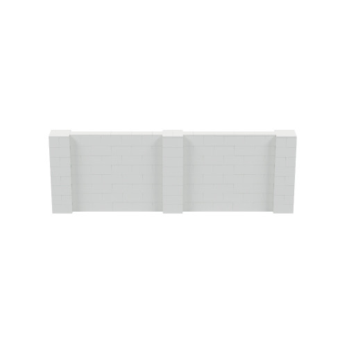 12' x 4' Light Gray Simple Block Wall Kit