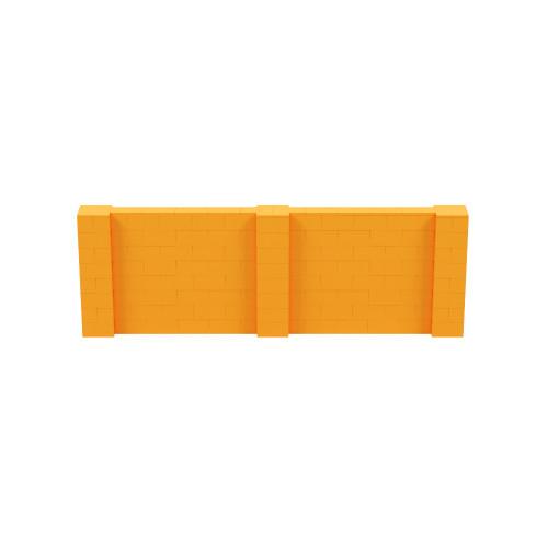12' x 4' Orange Simple Block Wall Kit