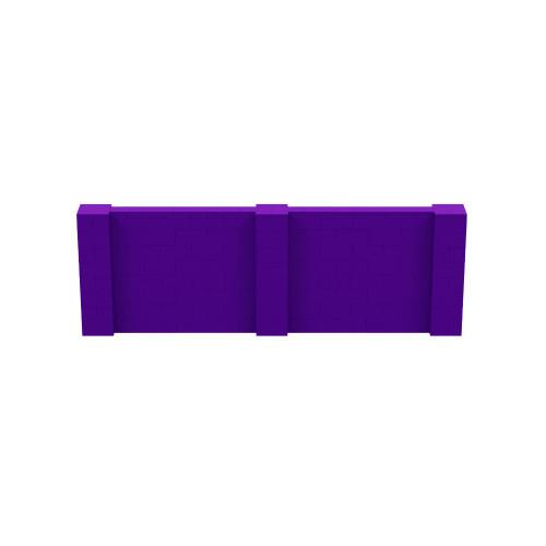 12' x 4' Purple Simple Block Wall Kit