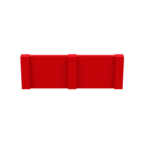 12' x 4' Red Simple Block Wall Kit