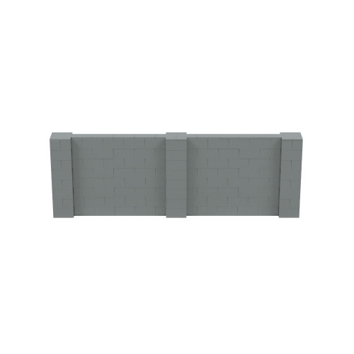 12' x 4' Silver Simple Block Wall Kit
