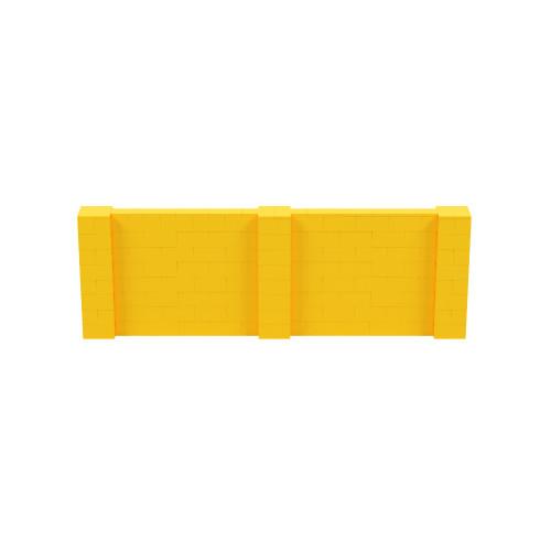 12' x 4' Yellow Simple Block Wall Kit