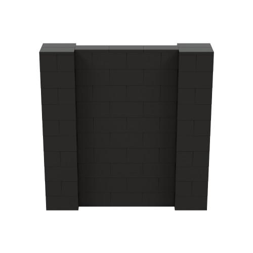 5' x 5' Black Simple Block Wall Kit
