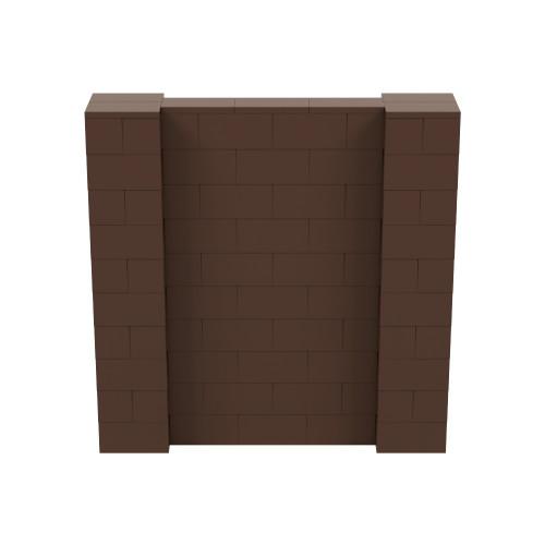 5' x 5' Brown Simple Block Wall Kit