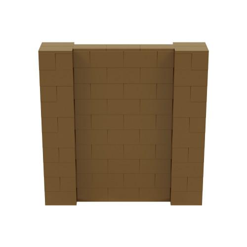 5' x 5' Gold Simple Block Wall Kit