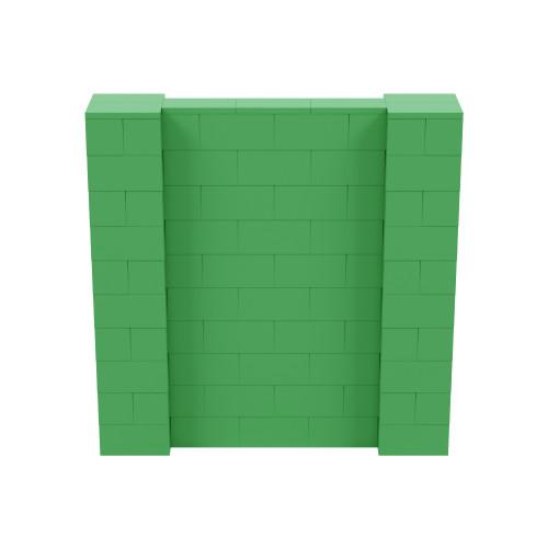 5' x 5' Green Simple Block Wall Kit