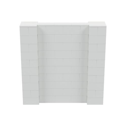 5' x 5' Light Gray Simple Block Wall Kit