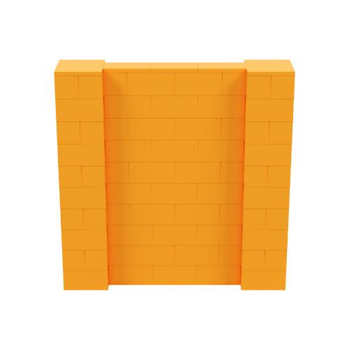 5' x 5' Orange Simple Block Wall Kit