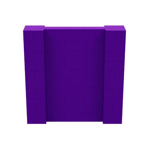 5' x 5' Purple Simple Block Wall Kit