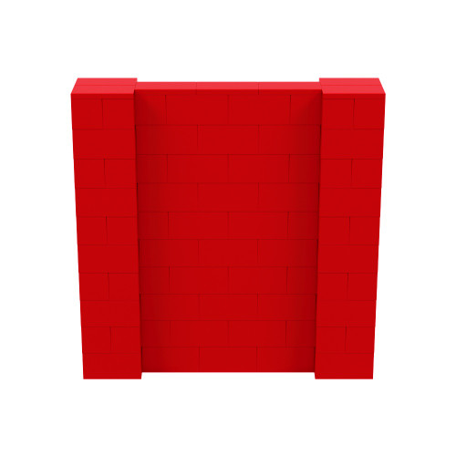 5' x 5' Red Simple Block Wall Kit