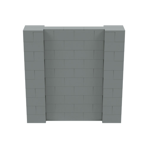 5' x 5' Silver Simple Block Wall Kit