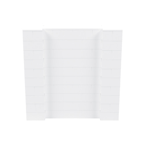 5' x 5' White Simple Block Wall Kit