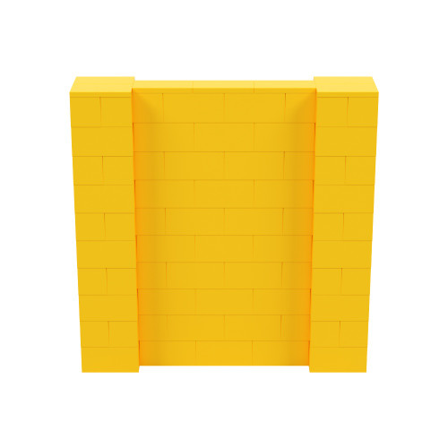 5' x 5' Yellow Simple Block Wall Kit