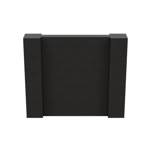 6' x 5' Black Simple Block Wall Kit