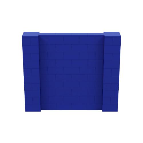 6' x 5' Blue Simple Block Wall Kit