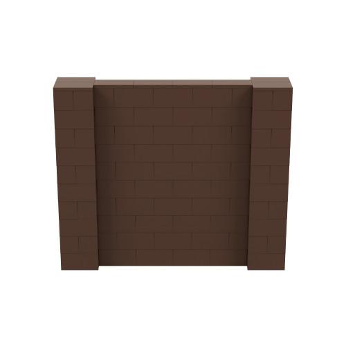 6' x 5' Brown Simple Block Wall Kit