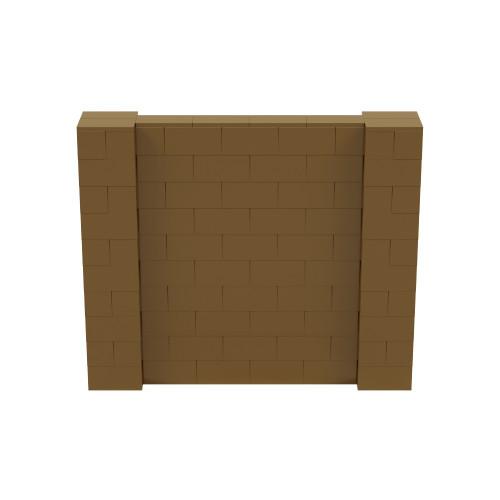6' x 5' Gold Simple Block Wall Kit