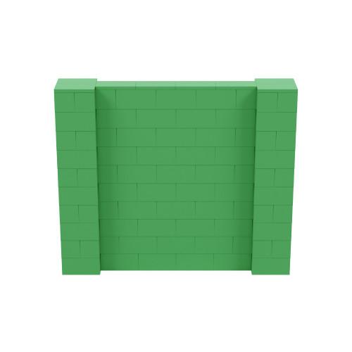 6' x 5' Green Simple Block Wall Kit