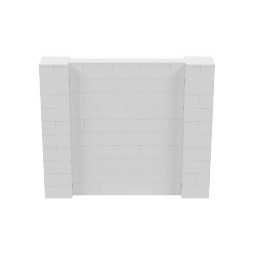 6' x 5' Light Gray Simple Block Wall Kit