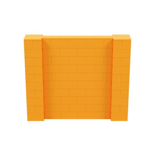 6' x 5' Orange Simple Block Wall Kit