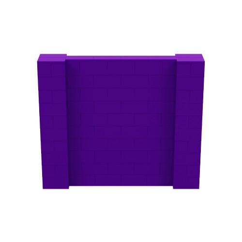 6' x 5' Purple Simple Block Wall Kit
