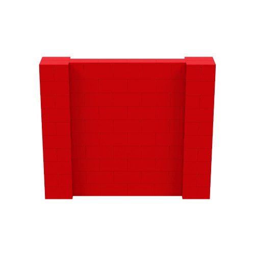 6' x 5' Red Simple Block Wall Kit