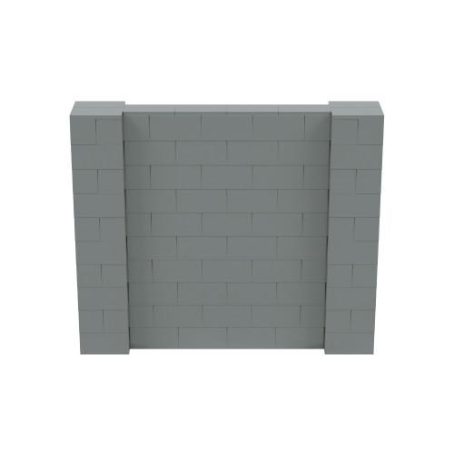 6' x 5' Silver Simple Block Wall Kit
