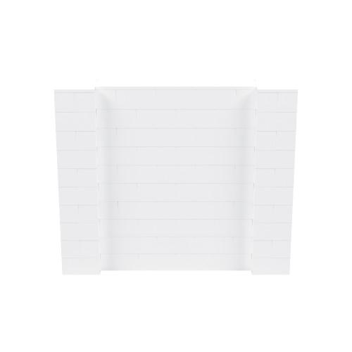 6' x 5' White Simple Block Wall Kit