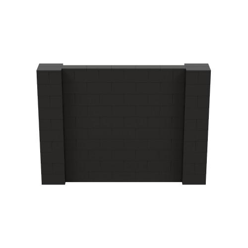 7' x 5' Black Simple Block Wall Kit