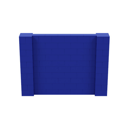 7' x 5' Blue Simple Block Wall Kit