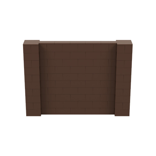 7' x 5' Brown Simple Block Wall Kit