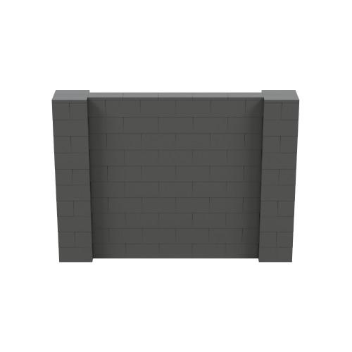 7' x 5' Dark Gray Simple Block Wall Kit