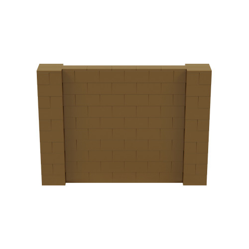 7' x 5' Gold Simple Block Wall Kit