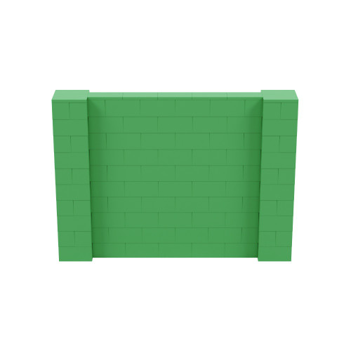 7' x 5' Green Simple Block Wall Kit