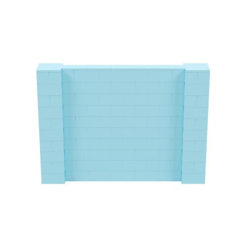 7' x 5' Light Blue Simple Block Wall Kit
