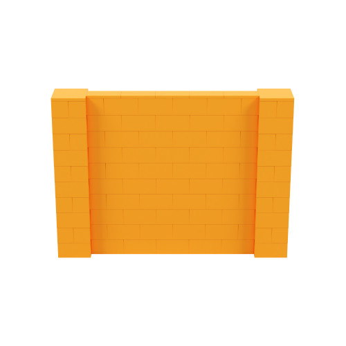7' x 5' Orange Simple Block Wall Kit