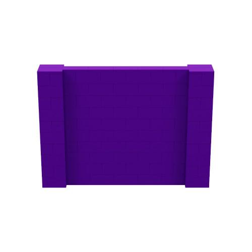 7' x 5' Purple Simple Block Wall Kit