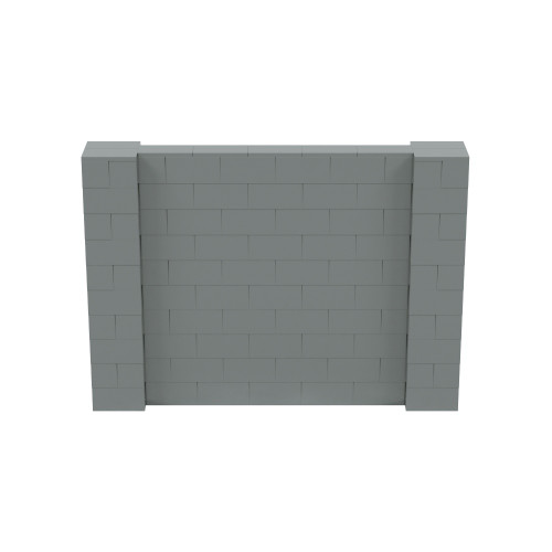 7' x 5' Silver Simple Block Wall Kit