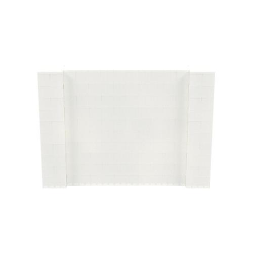 7' x 5' Translucent Simple Block Wall Kit