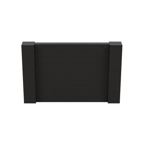 8' x 5' Black Simple Block Wall Kit