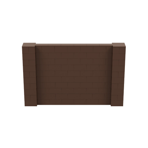 8' x 5' Brown Simple Block Wall Kit