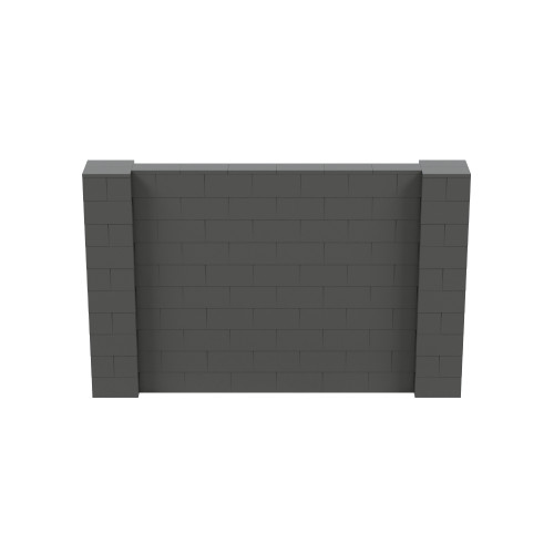 8' x 5' Dark Gray Simple Block Wall Kit