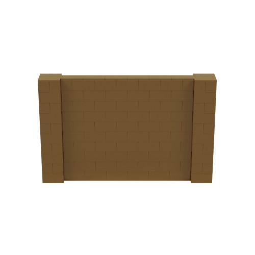 8' x 5' Gold Simple Block Wall Kit