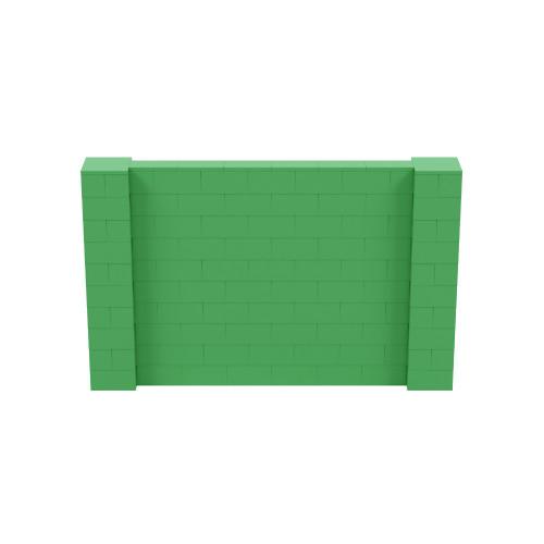 8' x 5' Green Simple Block Wall Kit
