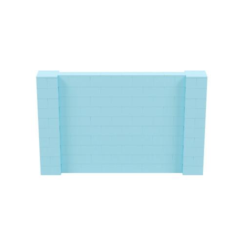 8' x 5' Light Blue Simple Block Wall Kit