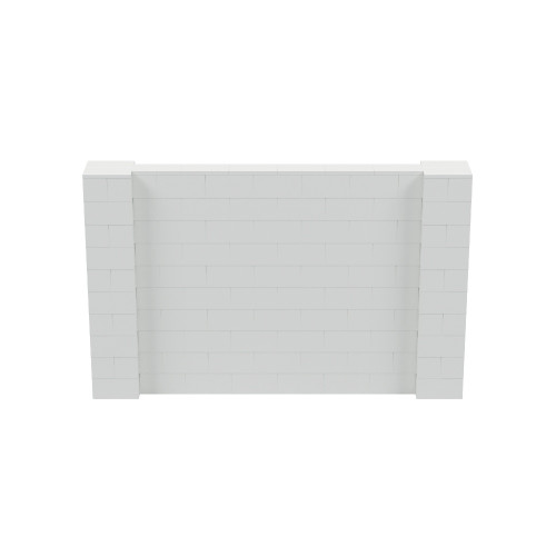 8' x 5' Light Gray Simple Block Wall Kit