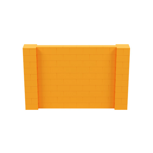 8' x 5' Orange Simple Block Wall Kit