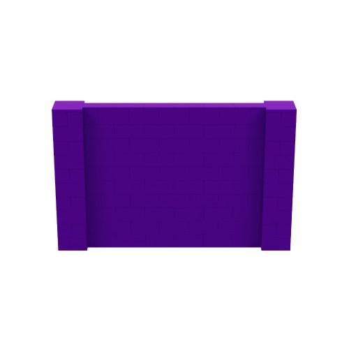 8' x 5' Purple Simple Block Wall Kit