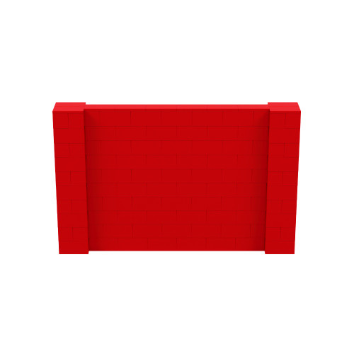 8' x 5' Red Simple Block Wall Kit